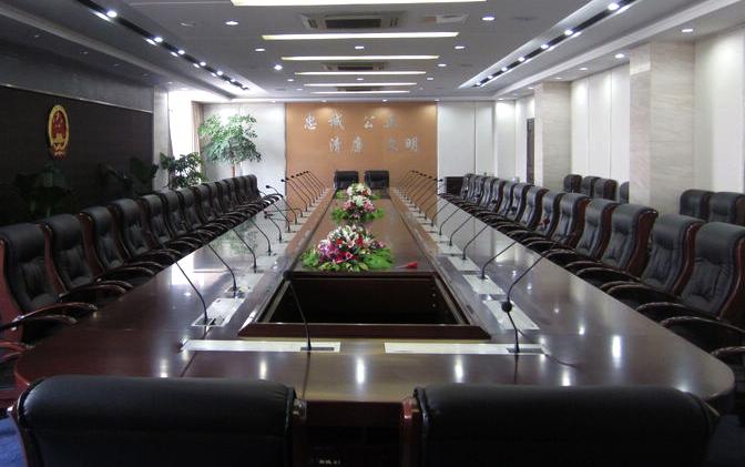 公安厅配置TUMINE天蒙手拉手嵌入式会议系统
